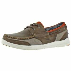 TOMMY BAHAMA ON PAR SPECTATOR MEN'S CASUAL SHOE DARK BROWN NEW IN BOX