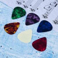 10pcs Guitar Picks Colored Premium Picks Celluloid Colorful Ukulele Bass
