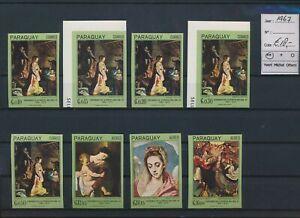 LN84001 Paraguay 1967 imperf paintings art fine lot MNH cv 18 EUR