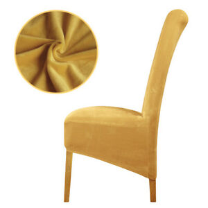 mustard velvet fox fabric XL Size Chair Cover long back Europe seat Chair Covers