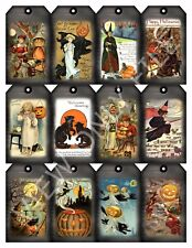 12 Halloween Black Smoke Hang Tags Scrapbooking Paper Crafts (19)