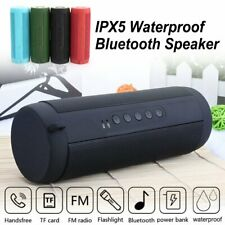 FM Portable Bluetooth Speaker Wireless Stereo Loud Super Bass Sound Aux USB T2