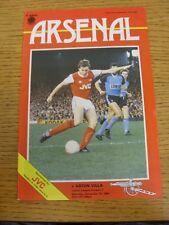10/11/1984 Arsenal v Aston Villa  (team changes)