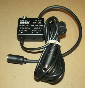 Official RF TV Adapter for Sega Saturn Console MK-80106 Fast Shipping