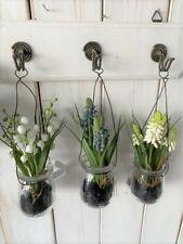 Muscari oder Maiglöckchen im Glas zum Hängen Frühling Landhaus Deko HOME KONTOR