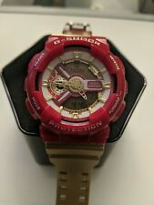 Casio G Shock Red And Gold 5146 Ga-110 Antimagnetic Digital Watch