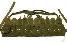 Vintage Chinese Army Ammo Belt 7.62 Canvas NOS Un-issued  Canvas Olive