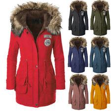 Women Coat Faux Fur Jacket Warm Winter Parka Overcoat Long Outwear Hoodie