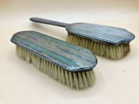 2 Antique 19th Century R Blackinton Co Sterling Monogrammed Dresser Brushes