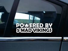2x Powered by 5 mad vikings car stickers - for volvo T5 Turbo V70 | 850 - R
