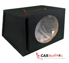 "12"" 30 cm Slot Ported Black carpeted CAR SUB WOOFER Empty Mdf Bass Box Enclosure"