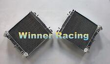 Fit Porsche 911 Targa 996 3.6 2001-2005 aluminum radiator 2 Rows Left + Right