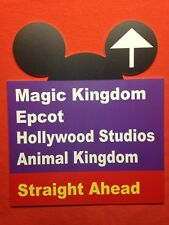 """Walt Disney World Road Sign Inspired 10"""" x 12"""" Sign MK Epcot HS AK Ears Cut Out"""