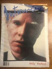 Andy Warhol Interview Magazine Featuring Andy Warhol  February 1989
