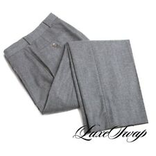 Brooks Brothers 1818 Milano VBC Grey Flannel Flat Front Pants Trousers 30 NR #2