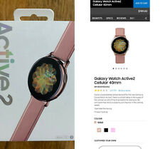 Samsung Galaxy Watch Active 2 40mm Gold-Tone Stainless Steel Case with Pink Band