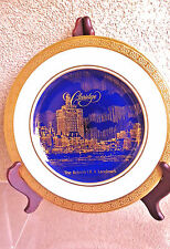 Rare Collectible ''Atlantic City Skyline 1930s Claridge'' 11'' Dinner Plate