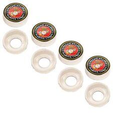 4 Chrome Custom License Plate Frame Screw Snap Caps Covers USMC Marines EGA Red