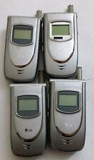 Lot of 4 Lg Lx5450 Alltel 00004000  Cell Phones Power Up