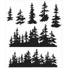 Tim Holtz s'accrocher timbres-Tree Line CMS 244
