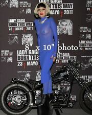 LADY GAGA GIANT SHOE photo #1 TOWERING OVER MOTORCYCLE (133)