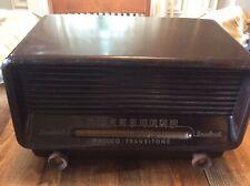 RaRe PHILCO TRANSITONE MODEL 51-531 AM TUBE RADIO Vtg Bakelite WORKING 1950s