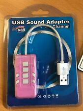External USB Sound Card 8.1 Channel Adapter Headset Microphone 3.5mm Jack Audio