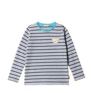 19/20-Steiff blue stripe Sweatshirt ,grau gestreift 2506  gr.98-122