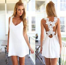 Women Summer Short Mini Dress Beach Bikini Cover Up Kaftan Swimwear Sundress US
