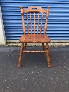 Tell City Chair Company Solid Oak Side Chair