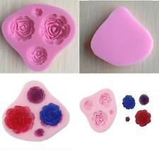 Silicone 3D Rose Flower Fondant Cake Chocolate Mold Mould Modelling Decor Hot LG