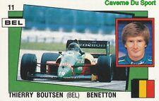 011 THIERRY BOUTSEN BENETTON F1 STICKER SUPERSPORT 1988 PANINI RARE & NEW