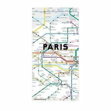 Kikkerland Set Of 50 Paris Mini Map Fridge Magnets Metro City Map Note Gift Idea