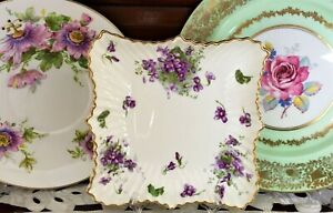 """VINTAGE HAMMERSLEY """"VICTORIAN VIOLETS"""" FROM ENGLAND'S COUNTRYSIDE DISH C1960'S"""