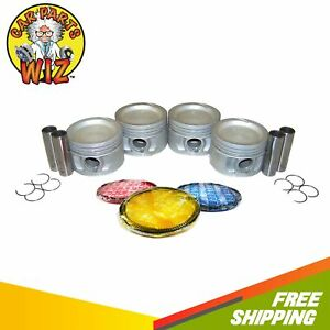 Pistons w/ Rings Fits 89-92 Chrysler Dodge Plymouth LeBaron Voyager 2.5L TURBO