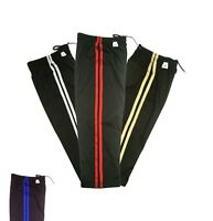 PFG Black Striped Karate pants Martial Arts Taekwondo Adult Child 8oz