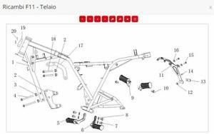 PEDANA SX RICAMBI BRIXTON BX 125 X ABS Scrambler Felsberg APPOGGIAPIEDI SX