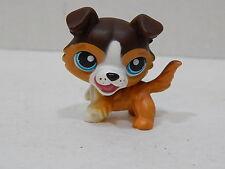 Littlest Pet Shop Dog Collie Brown & White Blue Eyes Barking