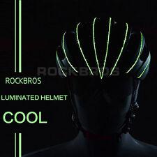 RockBros Luminated Helmet Unisex Road Bike MTB 57cm-62cm Black Green New