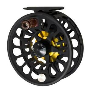 NEW BAUER RX-1 BLACK/BLACK FLY FISHING REEL FOR 3/4/5 WEIGHT ROD+ FREE $100 LINE