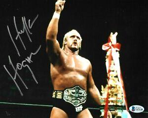 WWE HULK HOGAN HAND SIGNED AUTOGRAPHED 8X10 PHOTO WITH BECKETT COA VERY RARE 29