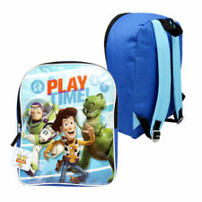 """Disney Toy Story Kids School 15"""" Backpack Book Bag Time to Play Buzz, Woody, Rex"""