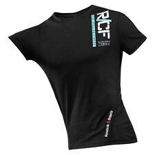 Reebok RCF CORDURA SS Uomo Slim Fit T-Shirt in Nero Tag Nuovo di Zecca + Taglia Media