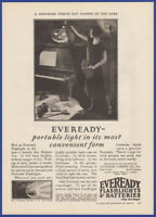Vintage 1926 EVEREADY Flashlights & Batteries Halloween Ephemera 20's Print Ad