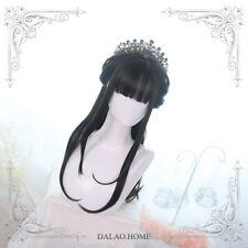 Japanese Lolita Gothic Air Bangs Long Hair Wig Harajuku Gradient Hairpiece#8-531