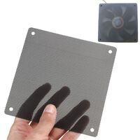10PCS 120mm Cuttable Black PVC PC Fan Dust Filter Dustproof Case Computer Mesh