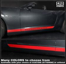 Chevrolet Camaro 2010-2019 Rocker Panel Side Stripes Decals (Choose Color)