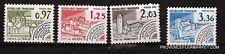 117T3 FRANCIA 4 sellos pre-oblitérés N° YT 174 à 177 Monumentos histórico