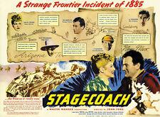 Stagecoach (1939) John Wayne Claire Trevor movie poster print 5