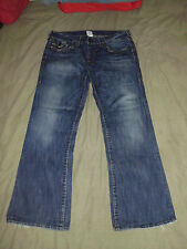 TRUE RELIGION Men's BILLY Leather Horseshoes 38 x 33 Faded Blackseed TR Jeans
